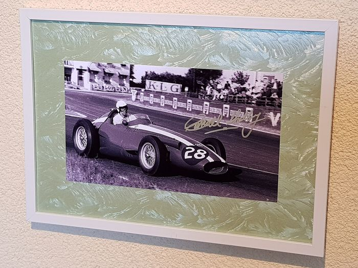 Formula One - Carrol Shelby - hand signed framed photo