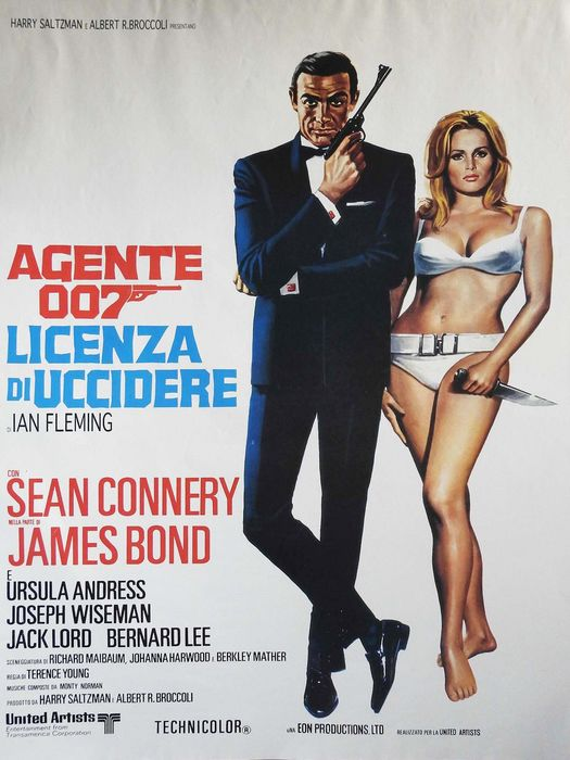 James Bond - 007 - 007 - You Only Live Twice / Dr. No   - 2x Italian 1970s retail movie posters