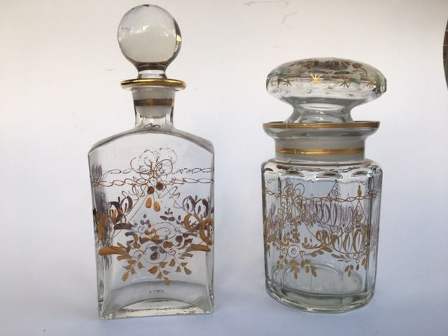 Two bottles in the style of Queen D. Maria, Portugal (2) - Glass