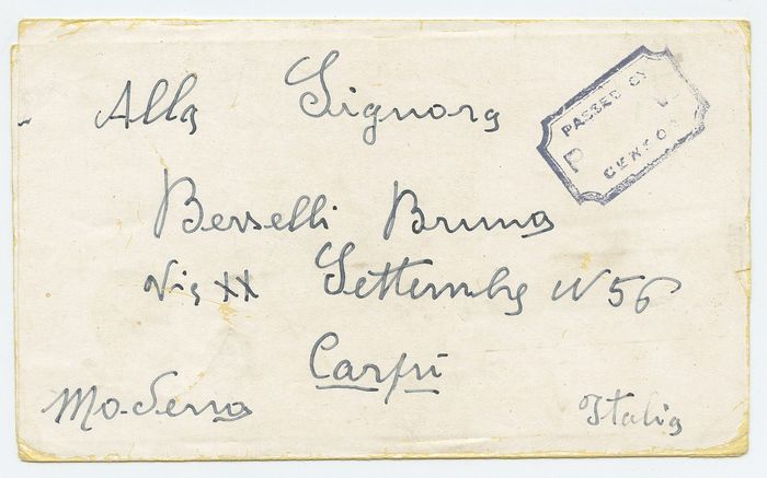 Italie 1944 - 28 letters from prisoners of war and internees from Egypt, USA, Algeria, England vari