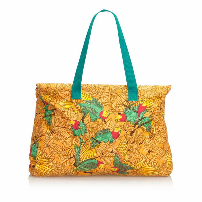 Hermes - Printed Canvas Tote Tote bag