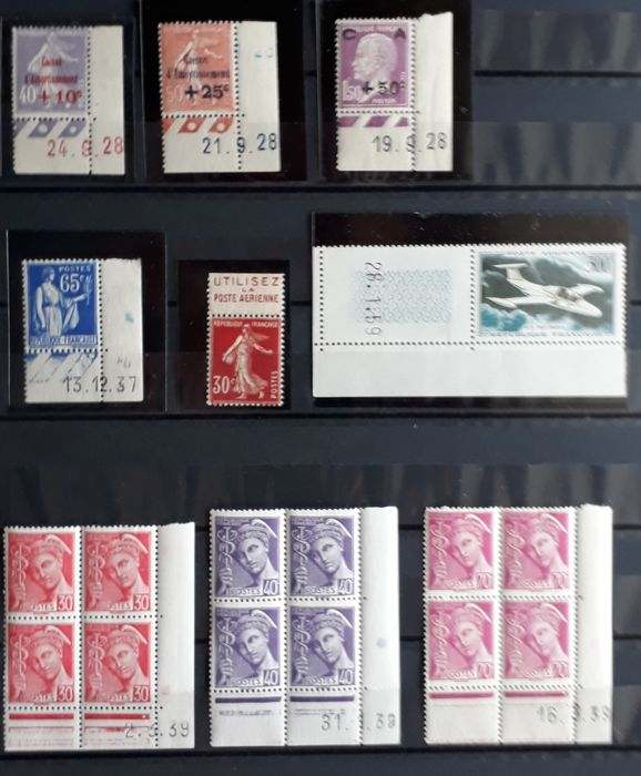 France 1928/1959 - Values with date stamp - MNH (mint)