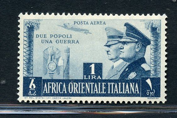 Italian Colonies - A.O.I. 1941 - Italo-German brotherhood in arms - Sassone N. PA20