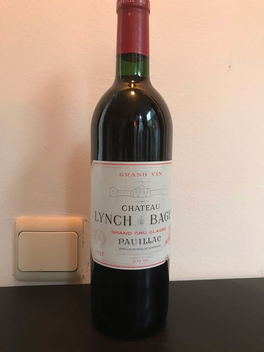 1987 Chateau Lynch Bages - Pauillac 5éme Grand Cru Classé - 1 Bottle (0.75L)