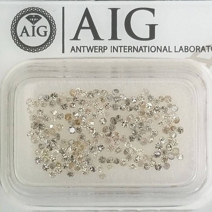 200 pcs Diamantes - 1.26 ct - Redondo - Mix Colors - I1, I2, SI1, SI2, VS1, VS2, VVS1, VVS2, ***No Reserve Price***