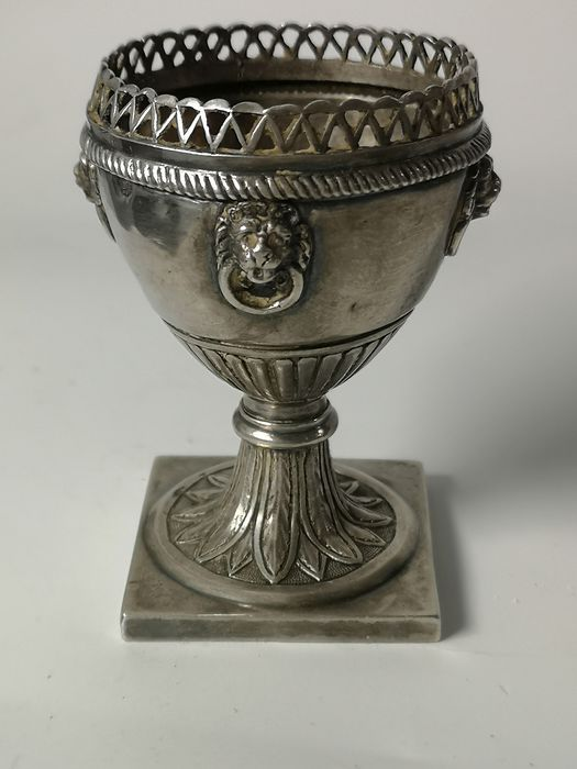 Salt cellar, Salt (1) - Silver, .889 - Rome - Papal State - Italy - About 1820