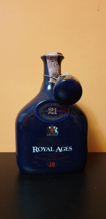 J&B 21 years old Special reserve Royal Ages - Original bottling - b. Anni '80 - 75cl