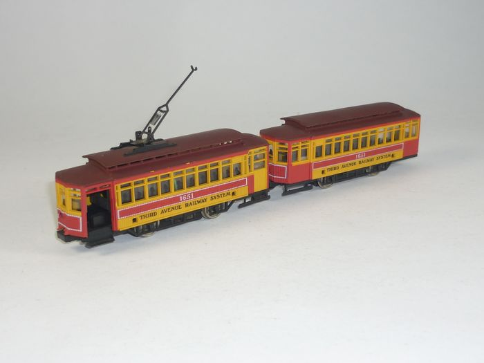 AHM H0 - Railcar - 2-part Tram - Third Avenue Railway System