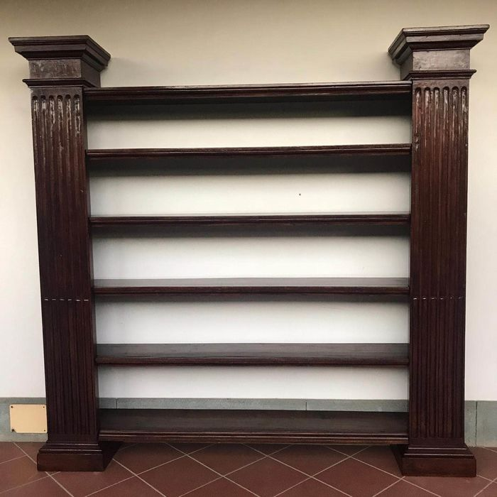 Bookcase - Neoclassical Style - Wood, solid poplar - 19th century