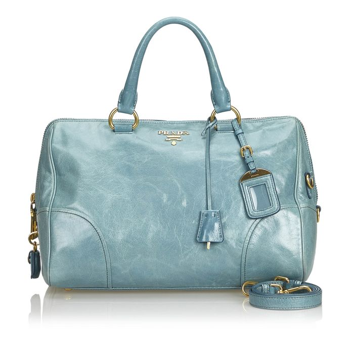 Prada - Vitello Shine Leather Satchel Satchel