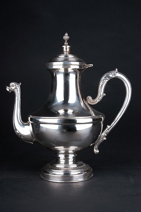 Silver jug - Biedermeier - .750 silver - Germany - mid 19th century