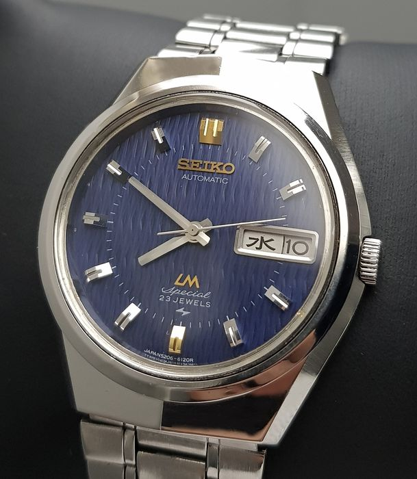 Seiko - 'NO RESERVE PRICE' Lord Matic Special Blue Automatic RARE Vintage Men - 5206-6100 - Άνδρες - 1970-1979