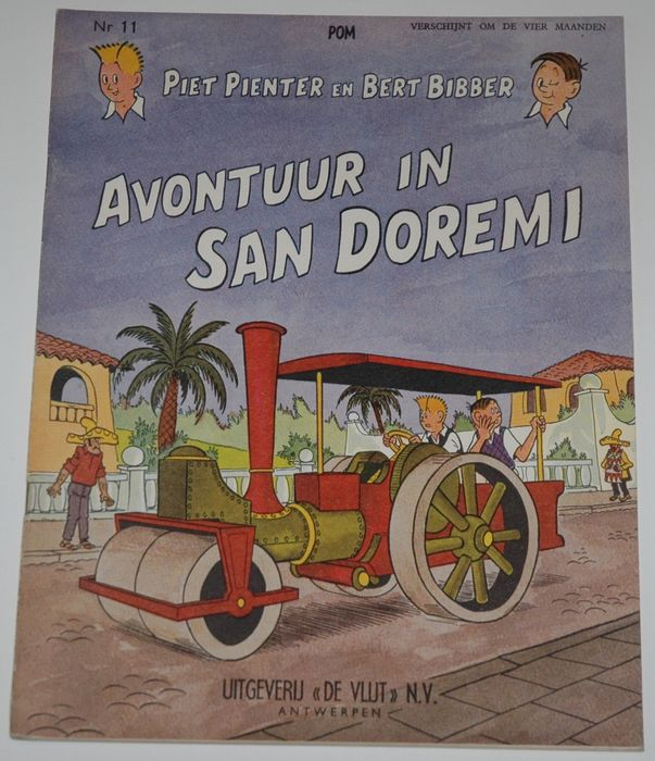 Piet Pienter en Bert Bibber 11 - Avontuur in San Doremi - Softcover - First edition - (1959)
