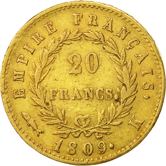 20 Francs 1809-K Napoléon I - Or