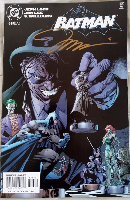 Dc Comics - Special Joker Batman #619 THE JOKER cover signed by Jim Lee - First edition