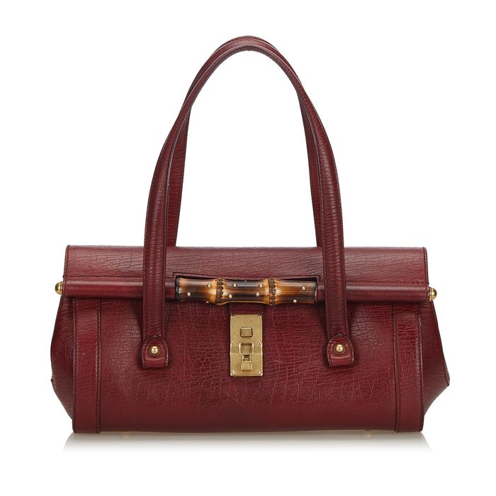 Gucci - Bamboo Leather Bullet Handbag Handbag