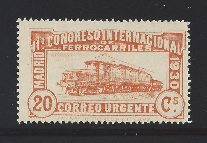 Spain 1930 - Urgent value, Railways set - Edifil 482