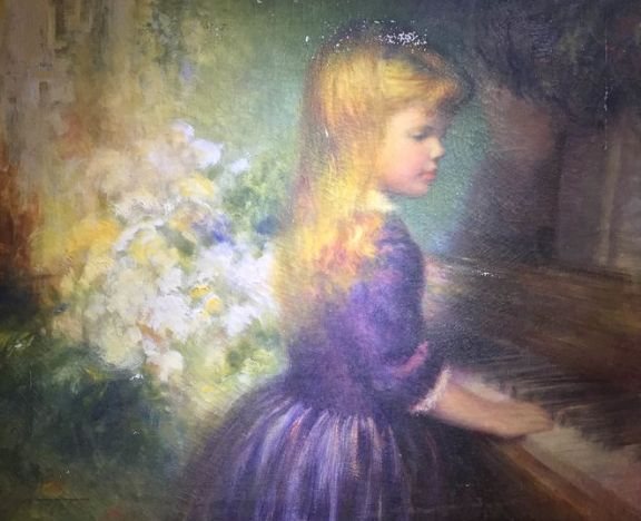 Harry Myers (1886-1961) - little blonde girl and the piano