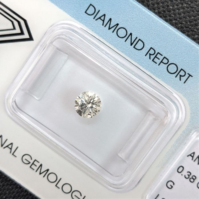 Diamond - 0.38 ct - Brilliant - G - I2, IGI Antwerp - No Reserve Price