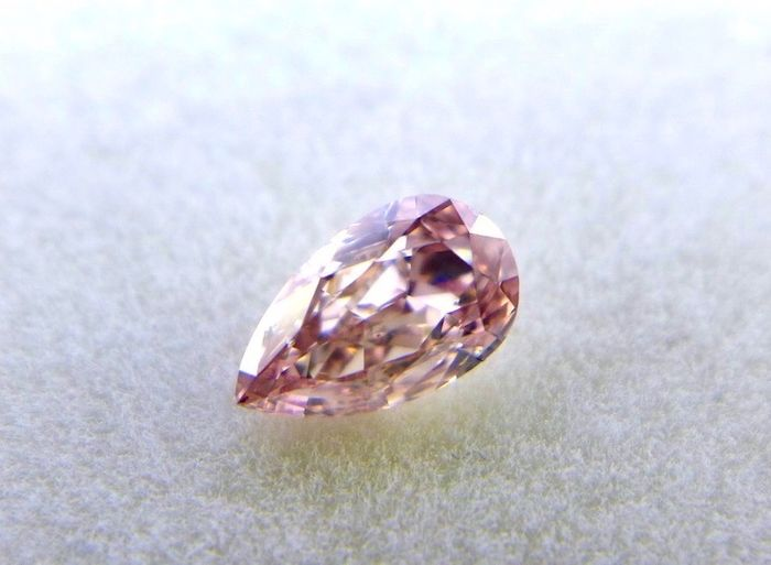 1 pcs Diamante - 0.41 ct - Pera - fancy pink - SI1, ***investment collector***