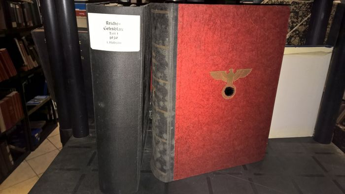 Germany - Book, Reich Law Gazette 1939 + 1937 3.Reich, religious foundations, laws, injunctions, Wehrmacht Part 1