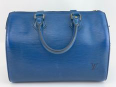Louis Vuitton - M43015 Blue  Speedy 25 Epi Boston  Sac à main