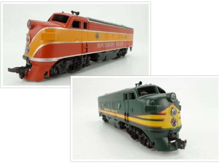 Athearn H0 - 3129/3235 - Diesel locomotive - 2x EMD F7A - Northern Pacific, Southern Pacific