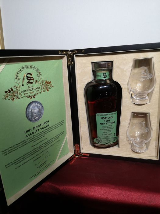 Mortlach 1991 27 years old 30th Anniversary - Signatory Vintage - 0.7 Ltr