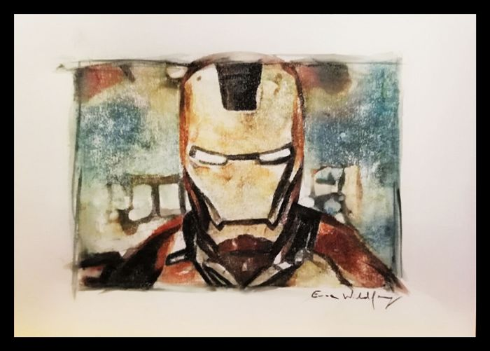 Emma Wildfang - IRON MAN - Loose page - Aquarelle- Watercolors/Pastels on 250g acid-free paper - (2019)
