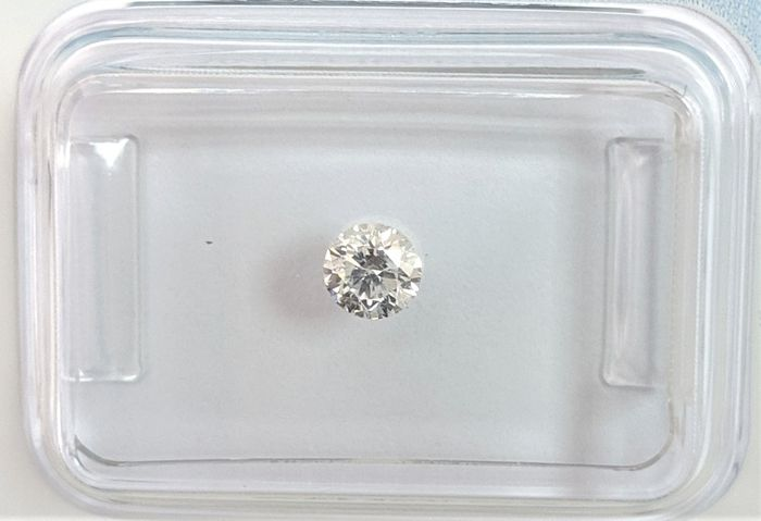 Diamante - 0.23 ct - Brillante - D (incoloro) - I1, IGI Antwerp - No Reserve Price