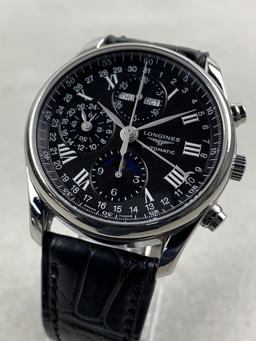 Longines - Master Collection Chronograph Automatic Moonphase - L2.673.4.51.3 - Heren - 2011-heden