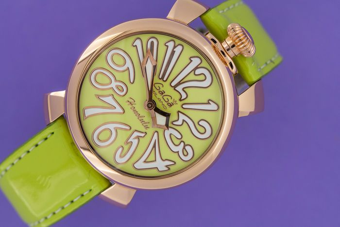 "GaGà Milano - Watch Manuale 40mm Honolulu Rose Gold Limited Edition Lime Green - 5021.LEHO3 ""NO RESERVE PRICE"" - Unisexe - BRAND NEW"