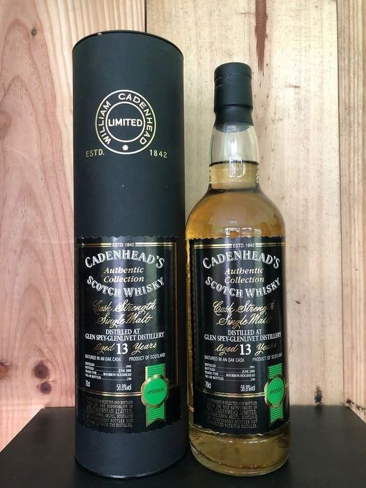 Glen Spey 1995 13 years old Authentic Collection - Bottled 2008 - One Of 246 - Cadenhead's - 70cl