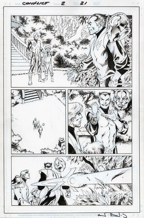 THANOS: THE INFINITY CONFLICT 1 - Alan Davis / Jim Starlin - Original Comic Art Page - Andere - (2019)