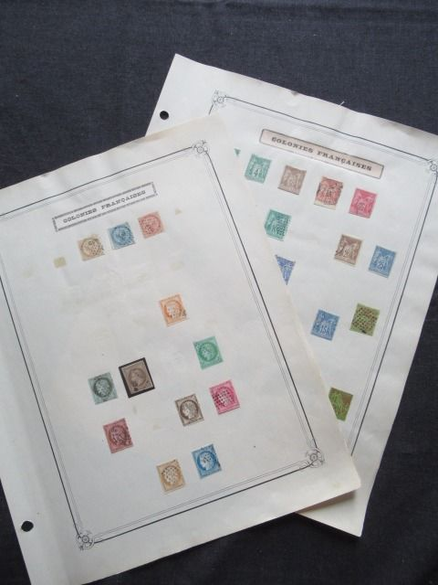 Former French colonies - General issue, advanced collection of stamps