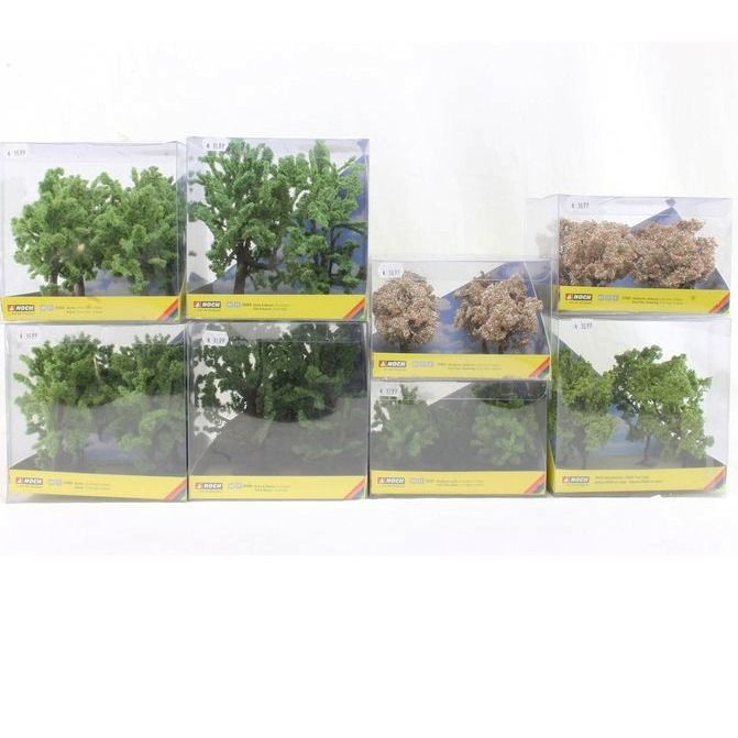 Noch H0 - Scenery - 8-piece set of boxes with different trees
