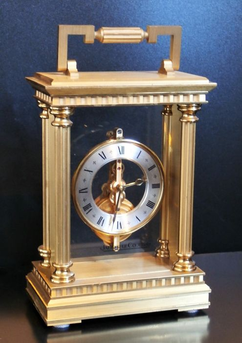 Travel clock - brass - Second half 20th century