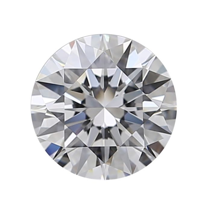 1 pcs Diamant - 0.51 ct - Brillant, Runder brillanter Idealschnitt plus Herzen und Pfeile - D (farblos) - IF (makellos)