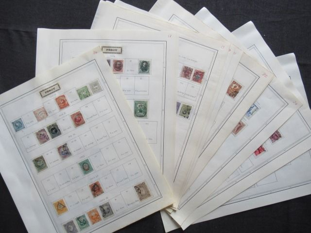 Peru 1857/1951 - Advanced collection of stamps