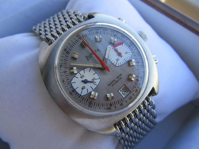 Avelta - Chronographe Racing Valjoux 7734 Vintage 70 Chrono NOS - Valjoux 7734 by Breitling  - Homme - 1970-1979