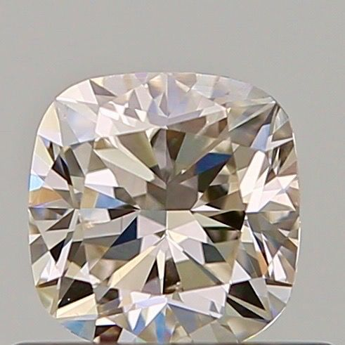 1 pcs Diamant - 0.50 ct - Kissen - Faint braun - SI1