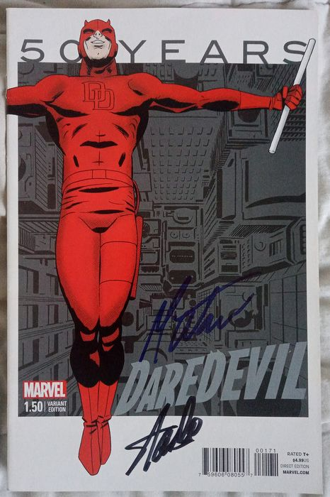Marvels - DAREDEVIL # 1.50 ( 50 years anniversary) Signed by Stan Lee and Mark Waid - Unterschiedlichen