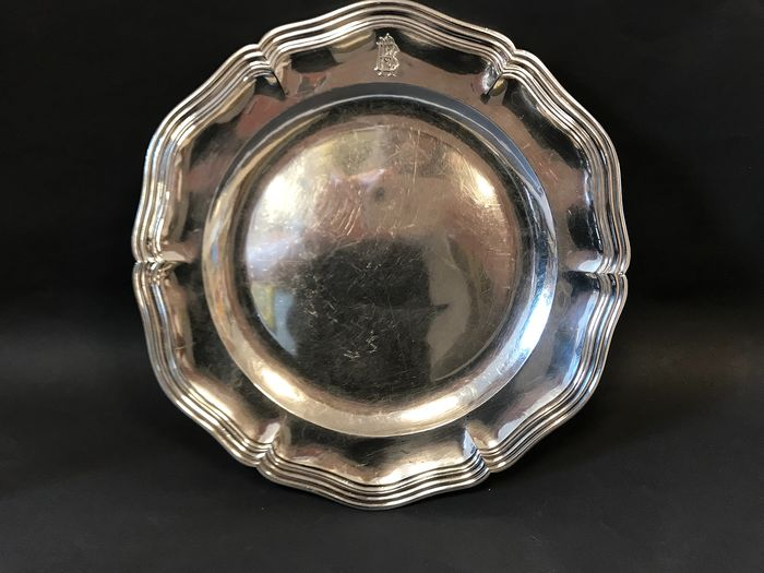Dish (1) - .950 silver - Georges Bachelet  - France - Second half 19th century