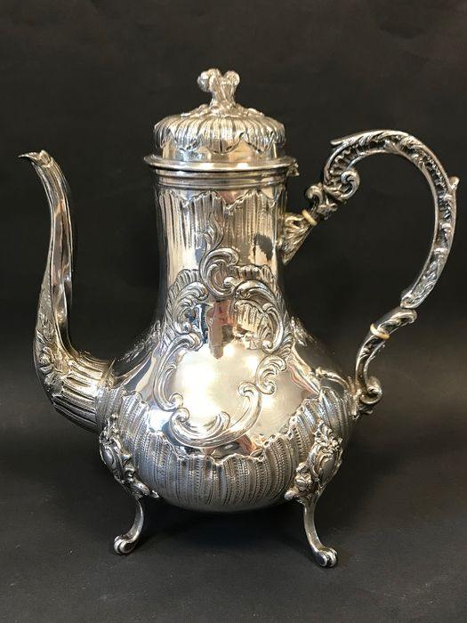 Coffee pot (1) - .950 silver - France - Second half 19th century