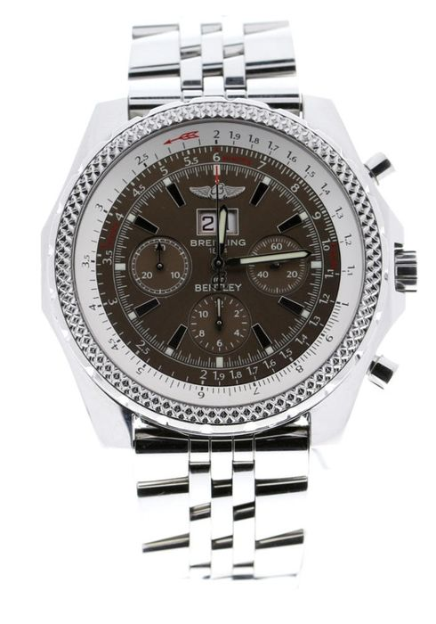 Breitling - Bentley 6.75 Steel Silver Dial - A44362PA - Unisex - 2006