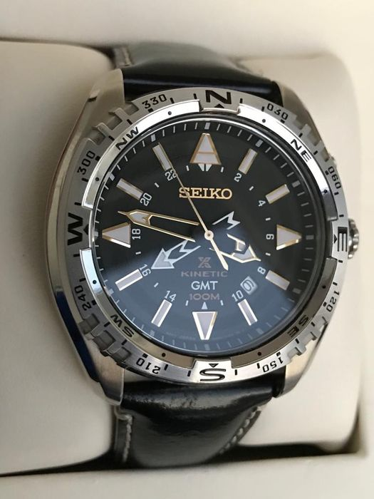 Seiko - PROSPEX-X KINETİC-GMT DİVER-NEW BATTERY - 5M85-0AE0 - Homme - 2011-aujourd'hui