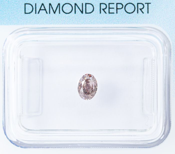 Diamant - 0.31 ct - Natural Fancy Light Pinkish Brown - SI1  *NO RESERVE*