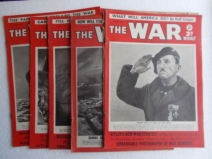"United Kingdom - WW2 ""The War Weekly"" photo-magazine  14x - 1940"