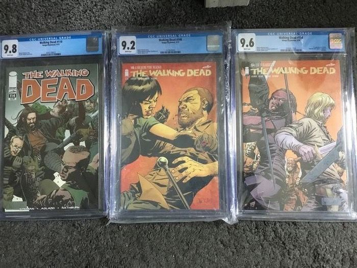 the Walking Dead #114 #146 #154 - CGC high graded 9.8, 9.2 and 9.6 - Softcover - Erstausgabe - (2013)