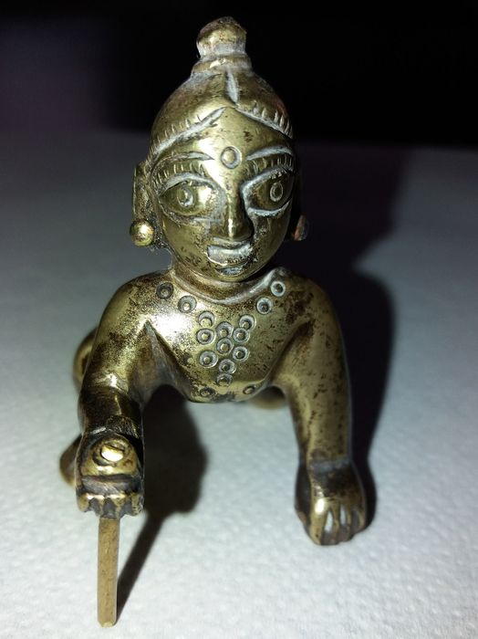 Figurine(s) (1) - Bronze - Krishna as a child - India - Early 20th century
